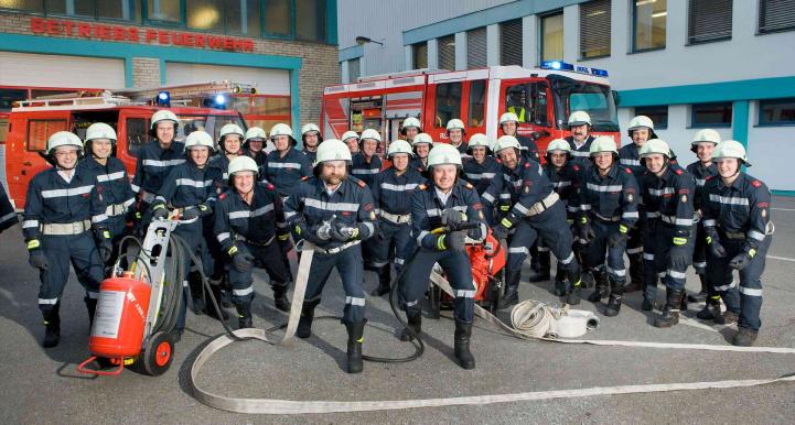 Gruppenfoto Freiwillige Betriebsfeuerwehr der Andritz AG